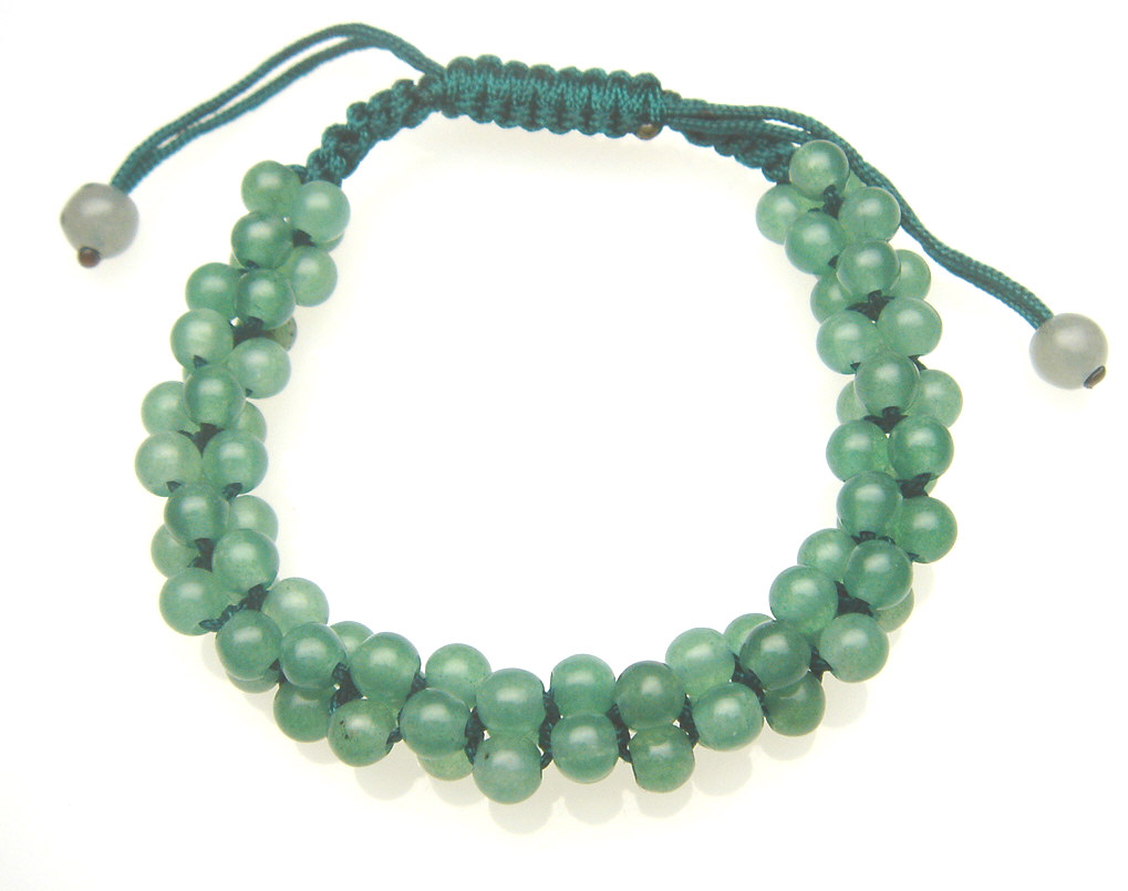 Twisted Colorful Jade Beaded Adjustable Bracelet Fb083