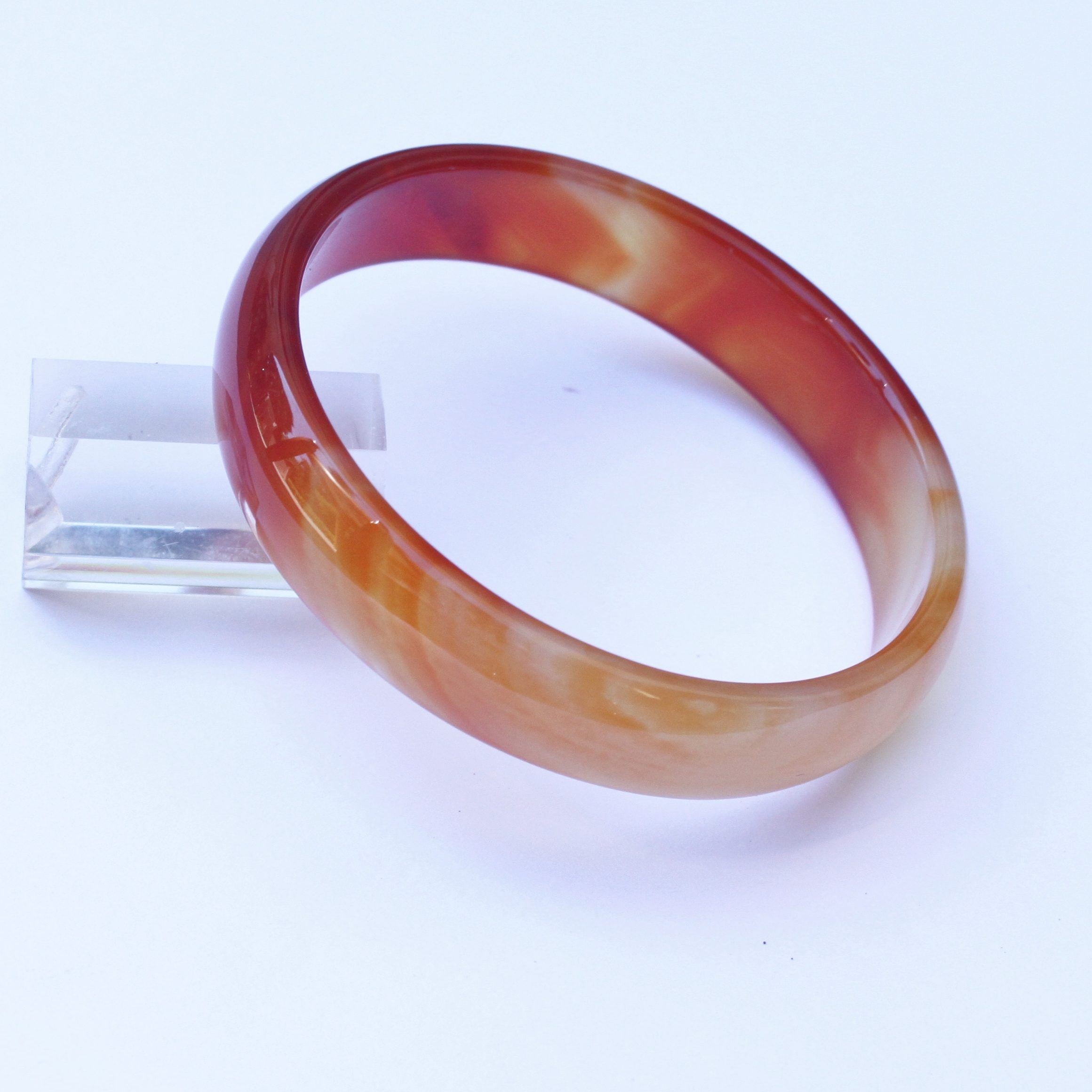 Extra Large Red Agate Bangle Bracelet 611